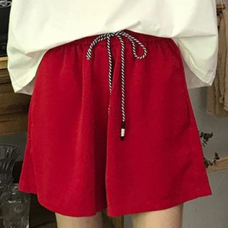 Drawstring | Short | Size | Red | One
