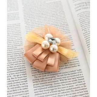 Brooches Faux Pearl Brooch Beige - One Size
