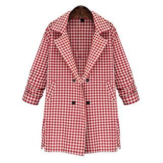 gingham-linen-blend-blazer