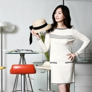 Picture of 782RUSH Long-Sleeve Knit Dress 1023033053 (782RUSH Dresses, Womens Dresses, South Korea Dresses, Long-Sleeve Dresses)