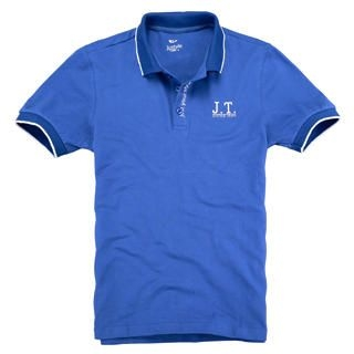 Picture of Justyle Contrast-Trim Short-Sleeve Polo Shirt 1022741581 (Justyle, Mens Tees, China)