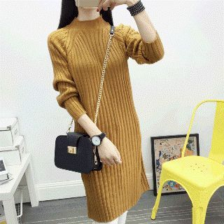 Ribbed Sweater Dress 1055122340
