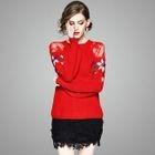 Set: Lace-Panel Knit Top + Pencil Skirt 1596