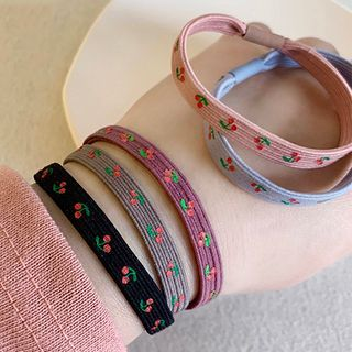 Image of Cherry Print Hair Tie