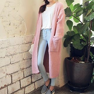 Ribbed Long Cardigan 1045325869
