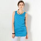 Faux Pearl-Embellished Sleeveless Tunic Blue - One Size 1596