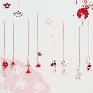 Image of Alloy Flower / Rabbit Dangle Earring (various designs)