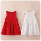 Kids Sleeveless Cutout-Back A-Line Dress 1596