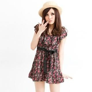 Picture of ZOO Tie-Waist Floral Print Dress 1022893312 (ZOO Dresses, Womens Dresses, Taiwan Dresses)