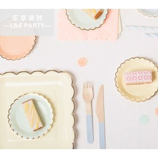 Set: Paper Plate + Cup + Straw + Napkin 1062084119
