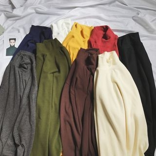 Mock-neck Long-Sleeve T-shirt 1065208668