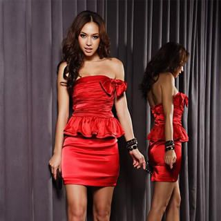 "Buy Joanne Kitten Strapless ""Bow"" Ruffle Party Dress 1022567692"