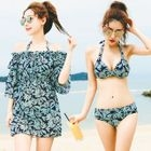 Set: Floral Bikini + Dress 1596