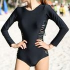 Ripped Long-Sleeve Swimsuit 1596