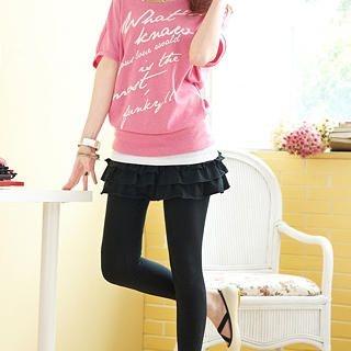 Buy Tokyo Fashion Inset Ruffle Miniskirt Leggings 1022594084