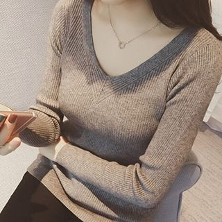 Ribbed Long-Sleeve T-Shirt 1053414249