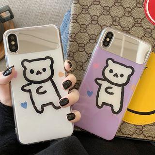 Image of Mirror Paneled Cartoon Bear Phone Case - iPhone 6/ 6s/ 6 Plus/ 7/ 7 Plus/ 8/ 8 Plus/ X/ Xs/ Xs Max/ XR