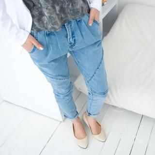 Picture of Cookie 7 Cropped Baggy Jeans 1022579004 (Womens Saruel Pants, Womens Cropped Pants, Cookie 7 Pants, South Korea Pants)