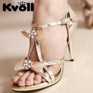 "Buy Kvoll Diamante ""Bow"" Sandals 1022906457"