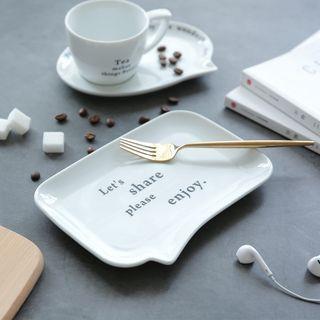 Lettering Ceramic Tea Cup / Plate 1061928468