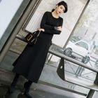 Lace-Up A-Line Maxi Dress 1596