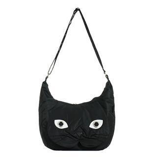 Buy Morn Creations Cat Shoulder Bag (BK – L) Black – L Size 1011631203