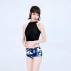 Set: Tankini Top + Patterned Swim Shorts 1596