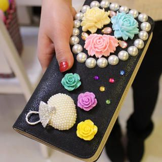 Appliqu  Beaded Wallet