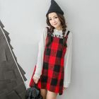 Check Jumper Dress 1596