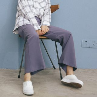 Plain Boot-cut Pants 1055184647