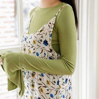 Long-Sleeve Wide-Cuff Slim-Fit T-Shirt 1058187201