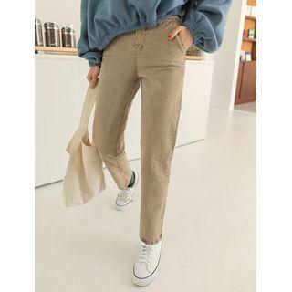 Band-waist Baggy Pants