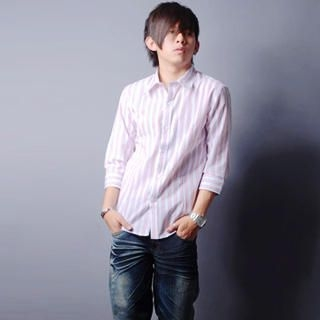 Picture of SLOWTOWN 3/4-Sleeve Striped Shirt 1023008971 (SLOWTOWN, Mens Shirts, China)
