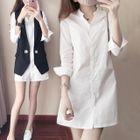 Long-Sleeve Shirt Dress 1596