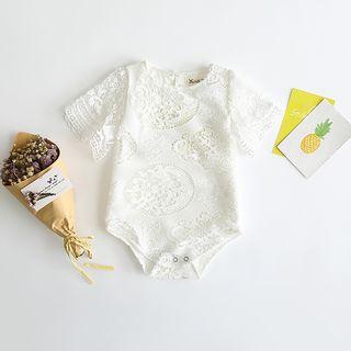 Baby Short-Sleeve Lace Bodysuit