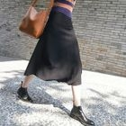 Plain A-line Knit Skirt 1596
