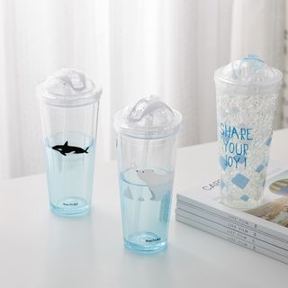 Printed Cup with Lid and Straw 1065641469