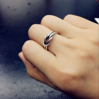Image of Couple Matching Knot Open Ring