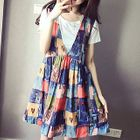 Set: Short Sleeve T-Shirt + Printed Pinafore Dress 1596
