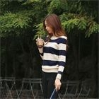 Boat-Neck Striped Knit Top от YesStyle.com INT