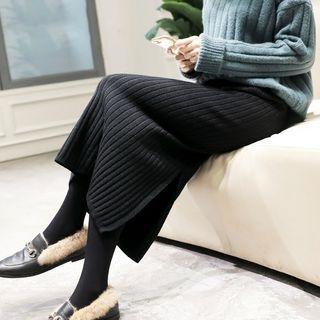 Midi Rib Knit Skirt 1064545195
