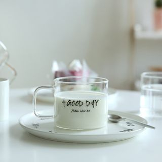 Lettering Glass Cup 1050707714