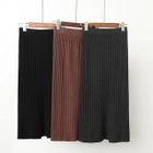 Ribbed Midi Skirt 1596