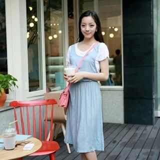 Buy misskongc Inset Top Elastic-Waist Dress 1023066458