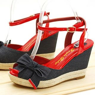 Picture of KAWO Bow Ankle Strap Platform Sandals 1022761182 (Sandals, KAWO Shoes, China Shoes, Womens Shoes, Womens Sandals)
