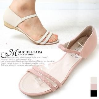 Picture of MICHEL PARA COLLECTION Banded Strap Sandals 1022752601 (Sandals, MICHEL PARA COLLECTION Shoes, Korea Shoes, Womens Shoes, Womens Sandals)