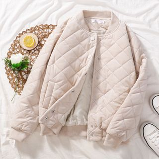 Image of Quilted Baseball Jacket