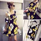 Cutout Shoulder Floral Babydoll Dress 1596