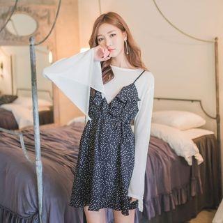 Slit-Sleeve Knit Top 1052911877