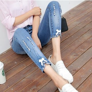 Distressed Skinny Jeans 1053766027